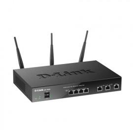D-LINK 4-port Gigabit LAN, 2-port Gigabit WAN, 1-port USB 2.0, Wireless AC Dual-band Concurrent Dual-Wan VPN Service Router [DSR-1000AC]