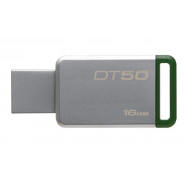 KINGSTON Flash Drive 16GB DataTraveler 50 [DT50/16GBFR] - Silver Green