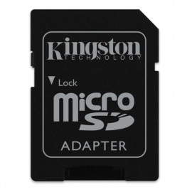 KINGSTON microSDXC 128GB Canvas React U3 UHS-I V30 A1 Card with SD Adapter [SDCR/128GB]
