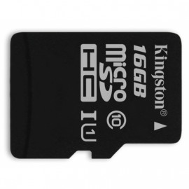 KINGSTON microSDHC 16GB Class 10 UHS-I with SD Adapter [SDC10G2/16GBFR]