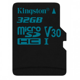KINGSTON microSDHC 32GB Canvas Go U3 UHS-I V30 Card with SD Adapter [SDCG2/32GB]