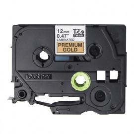 BROTHER Color Tapes 12mm [TZE-PR831] - Black on Premium Gold