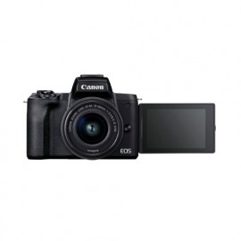 CANON EOS M50 Mark II Mirrorless Digital Camera with 15-45mm Lens - Black